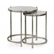 Jonathan Charles Furniture Nest of Mirrored Tables, Silver