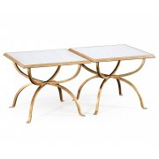 Jonathan Charles Furniture Luxury 2 Piece Coffee Table Set, Glass