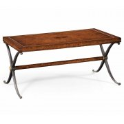 Jonathan Charles Furniture Designer Rectangle Iron Oak Coffee Table