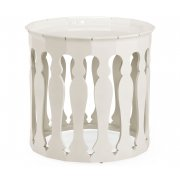Jonathan Charles Furniture Designer Moroccan White Round Side Table