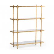 Jonathan Charles Furniture Glass Etagere Display Bookcase/4 Shelves Unit