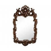 Jonathan Charles Furniture Carved Walnut Mirror in Rococo Style
