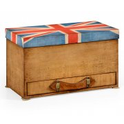 Jonathan Charles Furniture Union Jack Storage Box With Drawer