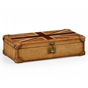 Jonathan Charles Furniture Small Union Jack Wooden Luggage Trunk
