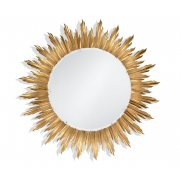 Jonathan Charles Furniture Large Gilded Sunburst Mirror