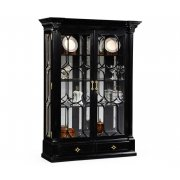 Jonathan Charles Furniture Black Painted Display Cabinet/China Cabinet