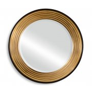 Jonathan Charles Furniture Art Deco Round Gold Mirror