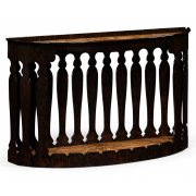 Jonathan Charles Furniture Moorish Carved Demilune Console Table