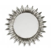 Jonathan Charles Furniture Designer Large Silver Sun Mirror