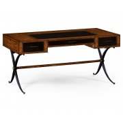 Jonathan Charles Furniture Oak Leather Desk/Leather Writing Table