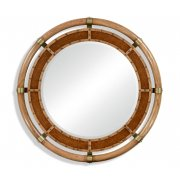 Jonathan Charles Furniture Nautical Style Round Oak Mirror
