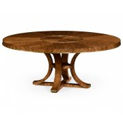 Jonathan Charles Furniture 8-Seater Round Dining Table 72'' with Lazy Susan, Hyedua