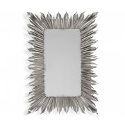 Jonathan Charles Furniture Silver Rectangular Sunburst Mirror