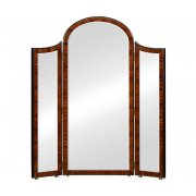 Jonathan Charles Furniture Art Deco Style Full Length Triple Dressing Mirror, High Lustre
