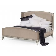 Jonathan Charles Furniture French Style Upholstered Bed, Super Kingsize