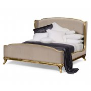 Jonathan Charles Furniture French Style Upholstered Bed, Kingsize