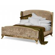 Jonathan Charles Furniture French Velvet Upholstered Bed, Kingsize