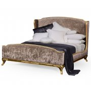 Jonathan Charles Furniture French Velvet Upholstered Bed, Super Kingsize