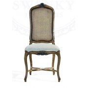 AM Classic Furniture French Cane Dining Chair, Louis XV