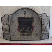 Black Iron 3 Panel Fire Guard
