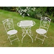 White 2 Seater Bistro Set Outdoor