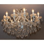 12 Light White Glass Chandelier