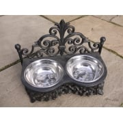 Cast Iron Raised Dog Bowls, Small