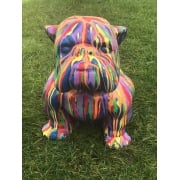 Life Size Bulldog Statue, Multicoloured