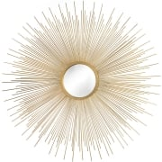 Spiked Round Sunburst Wall Mirror, Gold, Dia. 84cm
