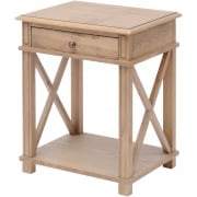 Country Bedside Table, Natural Finish