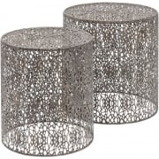 Set of Two Metal Nesting Side Tables