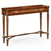 Jonathan Charles Furniture Burl & Mother of Pearl Console