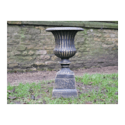 Planter Urn with Base, Bronze Finish