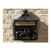 Wall Mounted Mailbox / Black Letterbox
