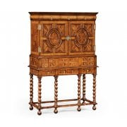 Jonathan Charles Furniture William & Mary Walnut & Oyster Secrétaire Cabinet