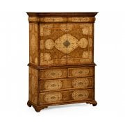 Jonathan Charles Furniture Luxury Walnut Writing Desk Cabinet /Drinks Cabinet
