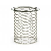 Jonathan Charles Furniture Contemporary Glass Side Table, Silver