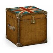 Jonathan Charles Furniture Small Union Jack Storage Trunk