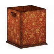 Jonathan Charles Furniture Designer Wooden Wastepaper Bin, Red