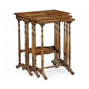 Jonathan Charles Furniture Regency Nest of Tables With Bamboo Legs