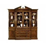 Jonathan Charles Furniture Glazed Triple Display Cabinet/Dresser, Mahogany