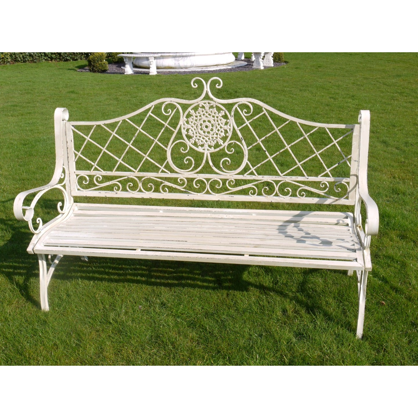 Buy French Style Garden Bench Swanky Interiors