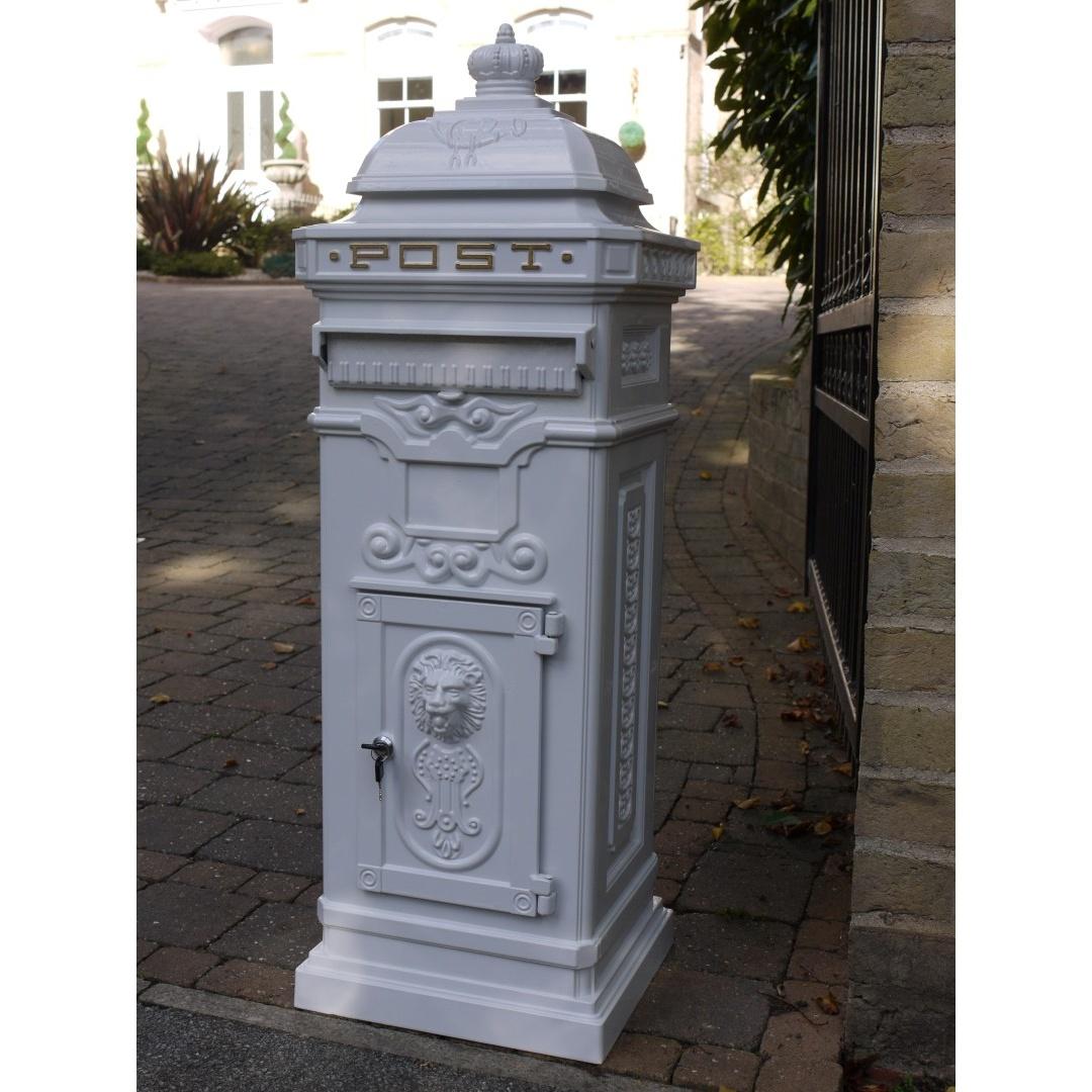 White Post Box Free Standing Mailbox Swanky Interiors