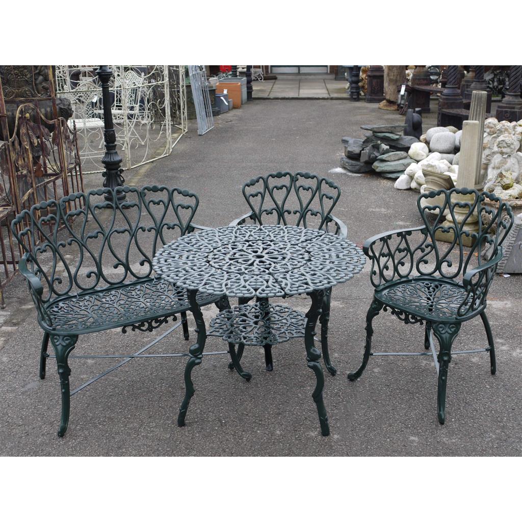 Cast Iron Garden Furniture | Patio Set | Swanky Interiors