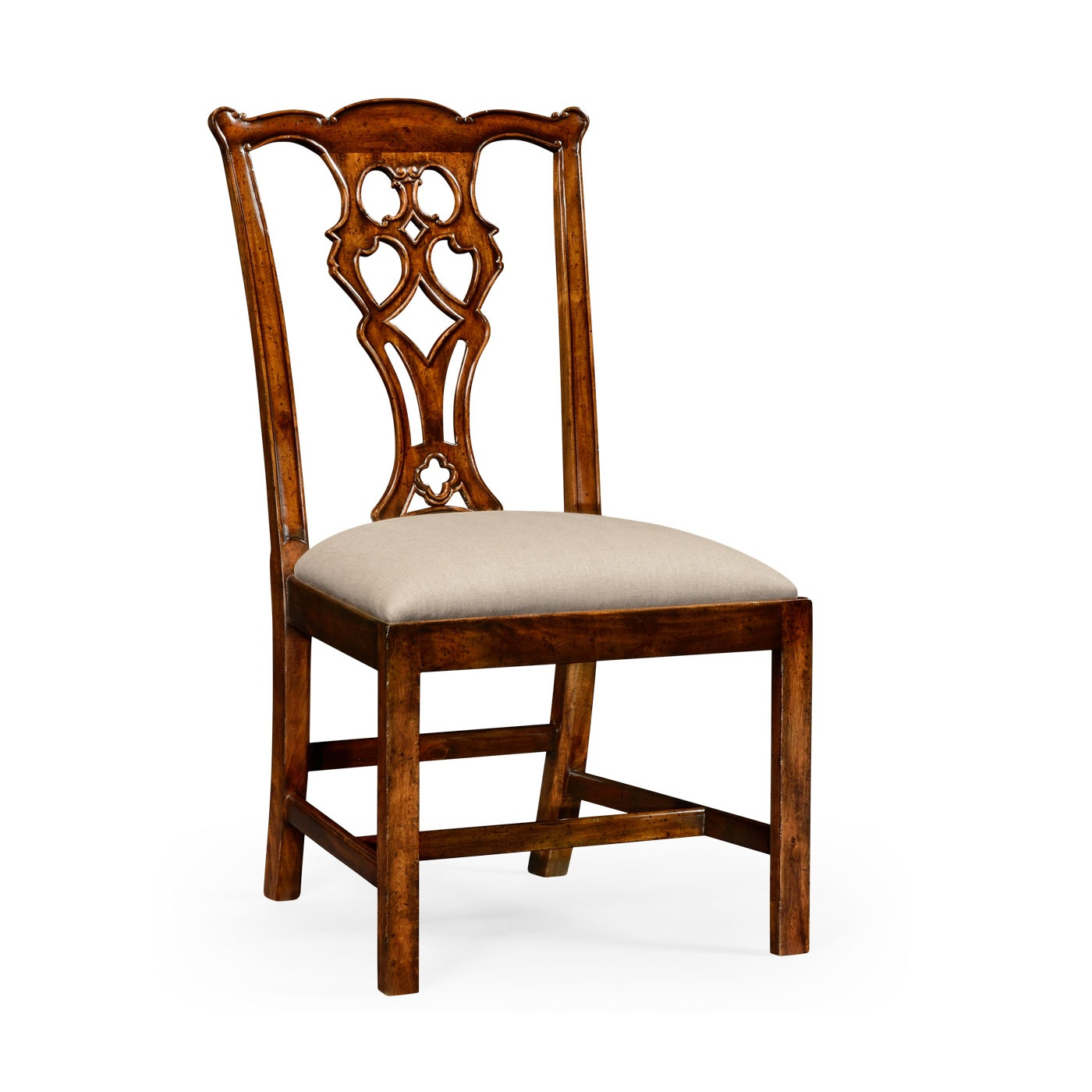 Chippendale Walnut Dining Chair Side Chair Swanky