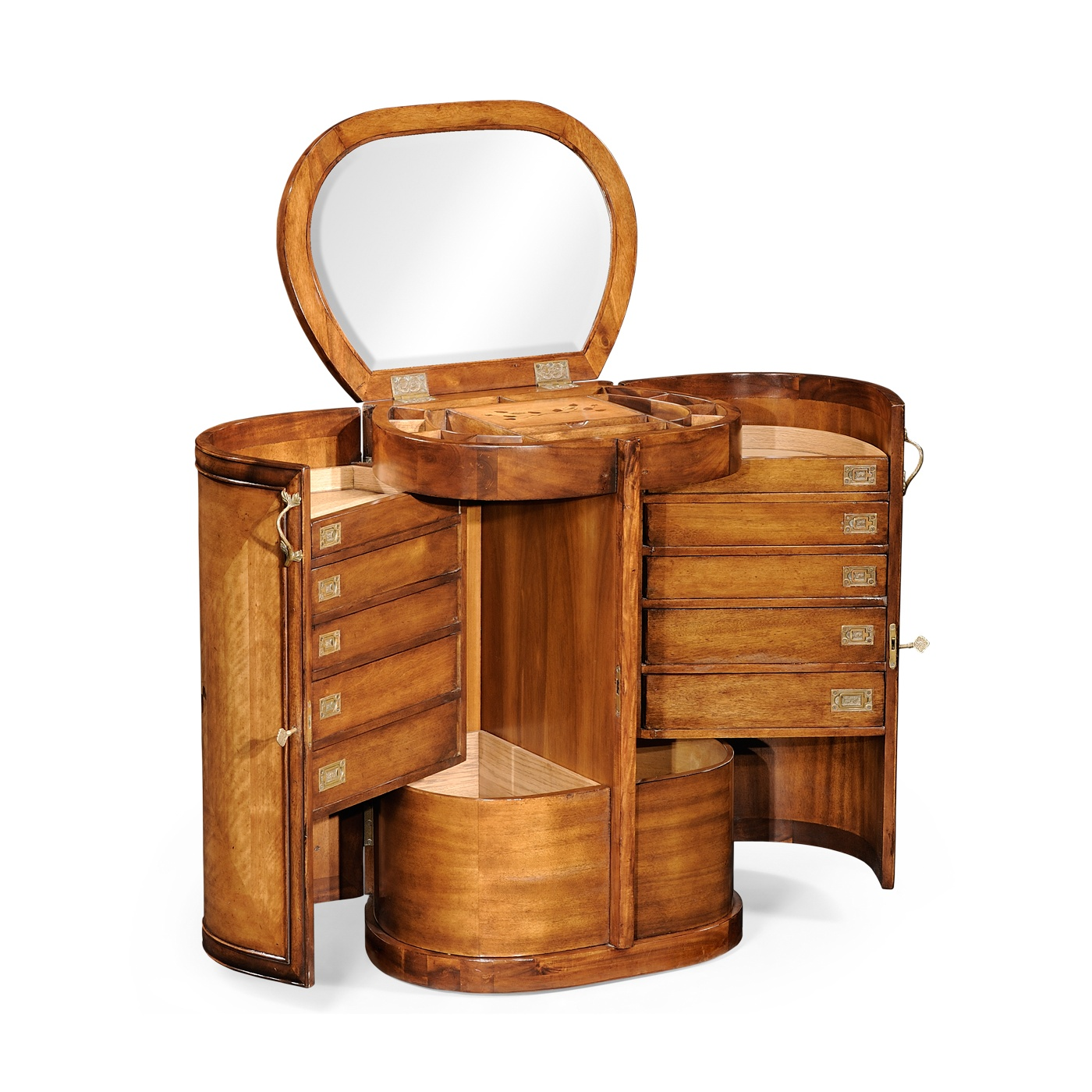 Walnut compact dressing table swanky interiors for Dressing table