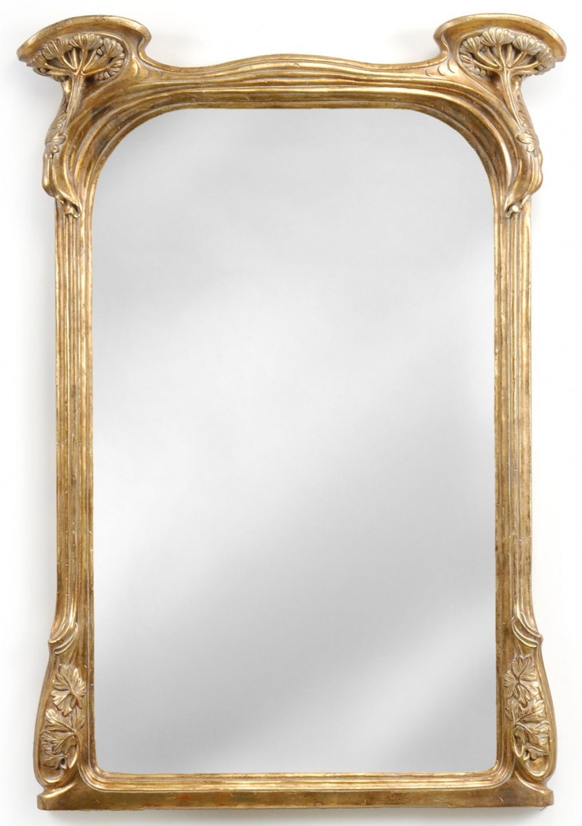 Art Nouveau Gilded Mirror Swanky Interiors