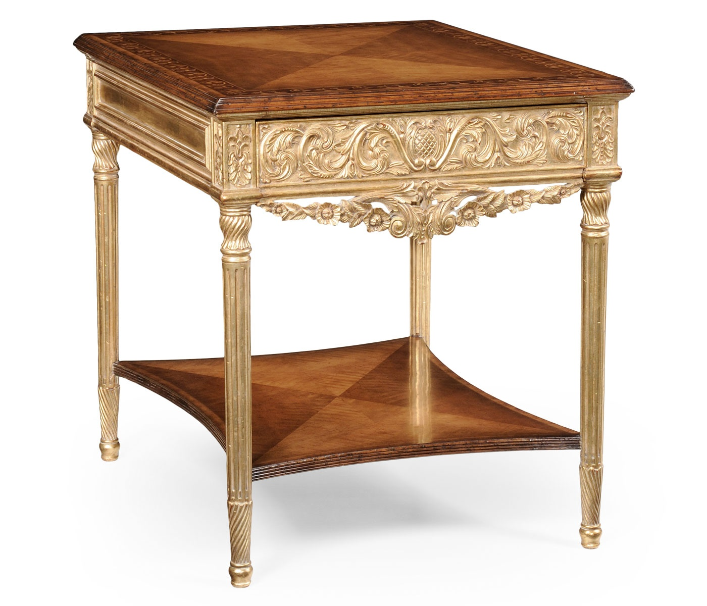 Side Table Gilded French Furniture Swanky Interiors