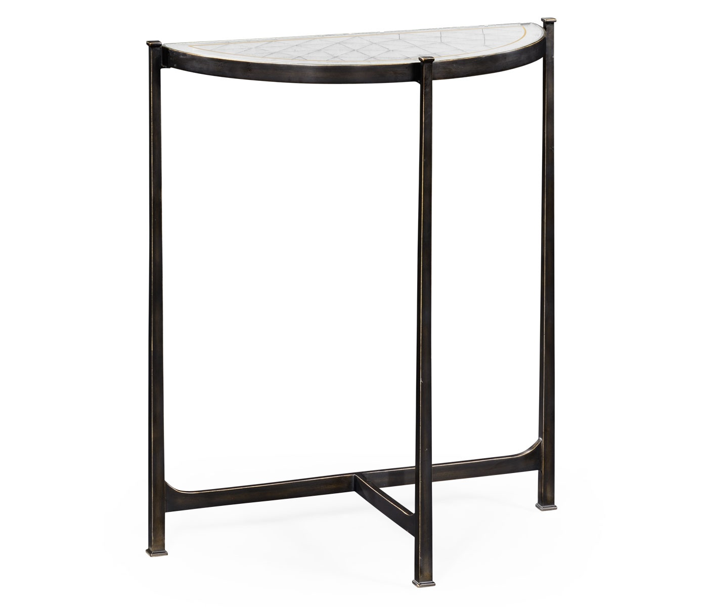 small glass console table black swanky interiors