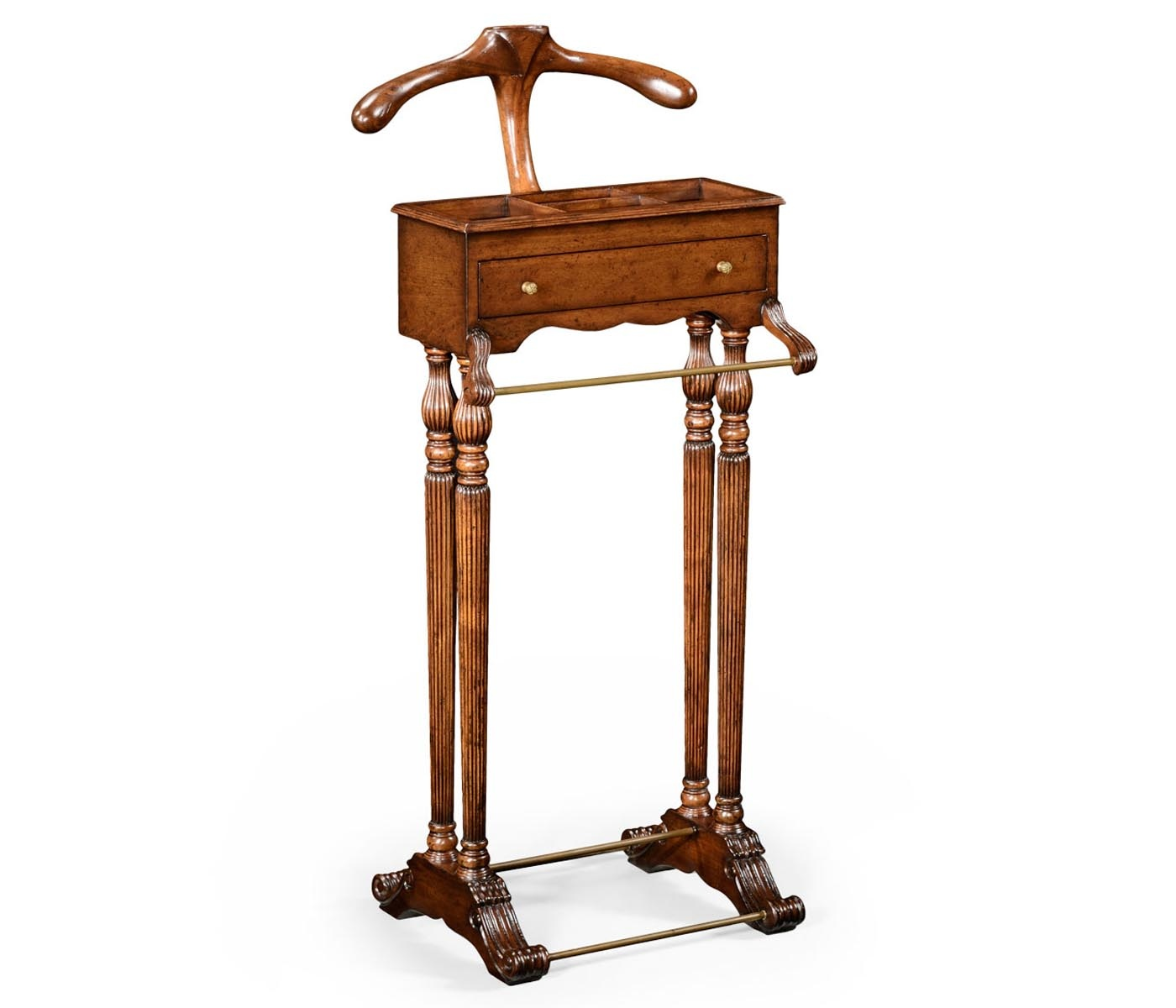 clothes valet stand with drawer walnut swanky interiors